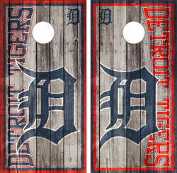 Detroit Tigers Cornhole Wraps