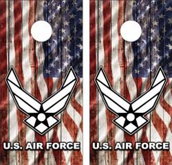 Air Force American Flag Cornhole Wraps