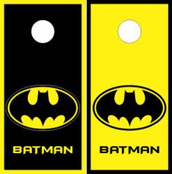 Batman Symbol Cornhole Wraps