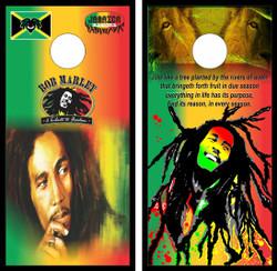 Bob Marley Cornhole Wraps