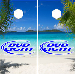 Bud Light Beach Cornhole Wraps