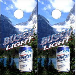 Busch Light Mountain Cornhole Wraps