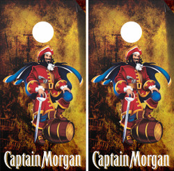 Captain Morgan Cornhole Wraps