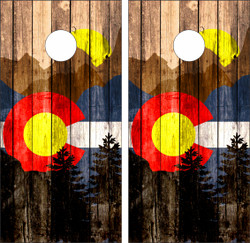 Colorado State Flag Cornhole Wraps