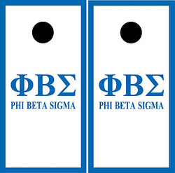 Phi Beta Sigma Cornhole Set with Bags