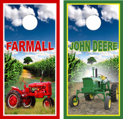 John Deere and Farmall Tractor Cornhole Wraps