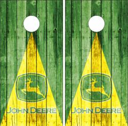 John Deere Triangle Cornhole Wraps