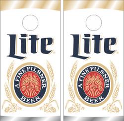 Miller Lite Can Cornhole Wraps