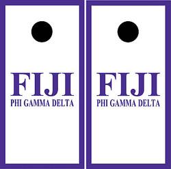 Phi Gamma Delta (FIJI) Cornhole Set with Bags