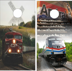 Train Cornhole Wraps