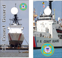 US Coast Guard Ships Cornhole Wraps