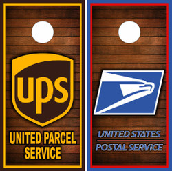 USPS and UPS Cornhole Wraps