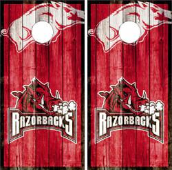 Arkansas Razorbacks Version 2 Cornhole Wraps