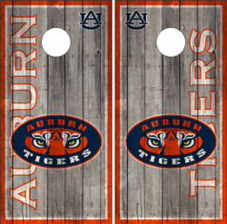 Auburn Tigers Version 2 Cornhole Wraps