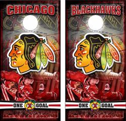 Chicago Blackhawks Cornhole Wraps