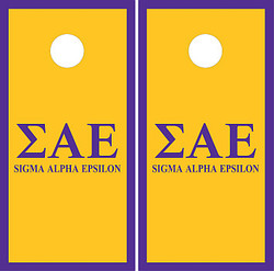 Sigma Alpha Epsilon Cornhole Set with Bags