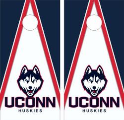 Connecticut Huskies Version 2 Cornhole Wraps
