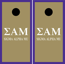 Sigma Alpha Mu Cornhole Set with Bags