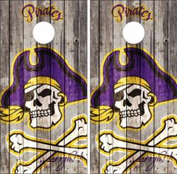 East Carolina ECU Pirates Version 2 Cornhole Wraps