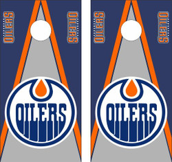 Edmonton Oilers Cornhole Wraps