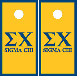 Sigma Chi Cornhole Set with Bags
