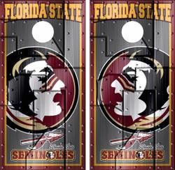 Florida State Version 2 Seminoles Cornhole Wraps