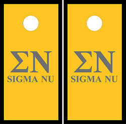 Sigma Nu Cornhole Set with Bags