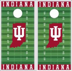 Indiana Hoosiers Version 3 Cornhole Wraps