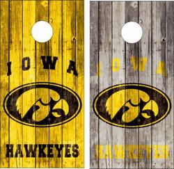 Iowa Hawkeyes Version 2 Cornhole Wraps