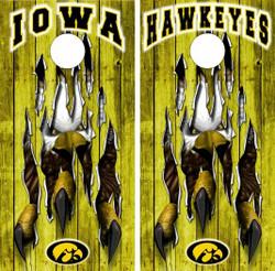 Iowa Hawkeyes Version 3 Cornhole Wraps