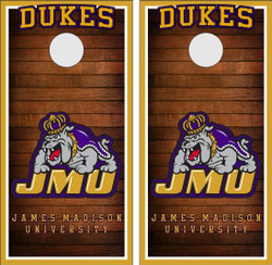 James Madison Dukes Version 2 Cornhole Wraps