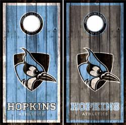 John Hopkins Blue Jays Cornhole Wraps