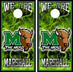 Marshall Thundering Herd Version 3 Cornhole Wraps