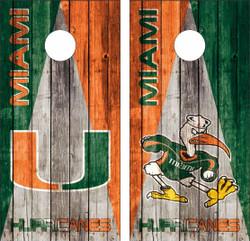 Miami Hurricanes Version 3 Cornhole Wraps