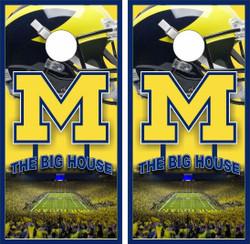 Michigan Wolverines Version 2 Cornhole Wraps
