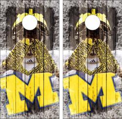 Michigan Wolverines Version 5 Cornhole Wraps