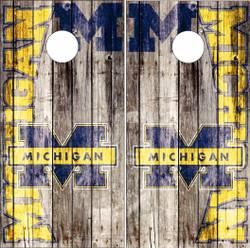 Michigan Wolverines Version 6 Cornhole Wraps