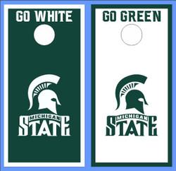 Michigan State Spartans Version 2 Cornhole Wraps