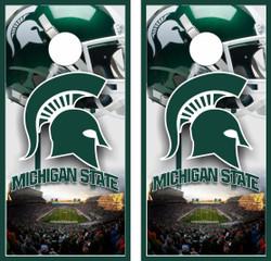 Michigan State Spartans Version 3 Cornhole Wraps