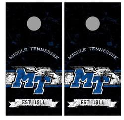 Middle Tennessee Blue Raiders Cornhole Wraps