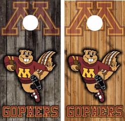 Minnesota Golden Gophers Version 2 Cornhole Wraps