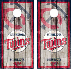 Minnesota Twins Version 2 Cornhole Wraps