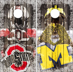 Michigan vs Ohio State Cornhole Wraps