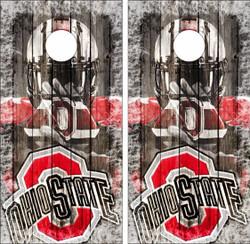 Ohio State Buckeyes Version 5 Cornhole Wraps
