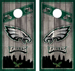 Philadelphia Eagles Version 2 Cornhole Wraps