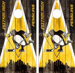 Pittsburgh Penguins Version 2 Cornhole Wraps