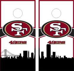 San Francisco 49ers Version 2 Cornhole Wraps