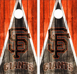 San Francisco Giants Cornhole Wraps