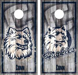 Connecticut Huskies Version 3 Cornhole Wraps