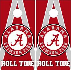Alabama Crimson Tide Version 2 Cornhole Wraps